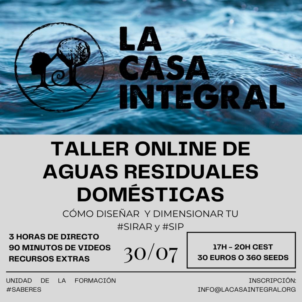 Taller Online AGUAS RESIDUALES DOMÉSTICAS